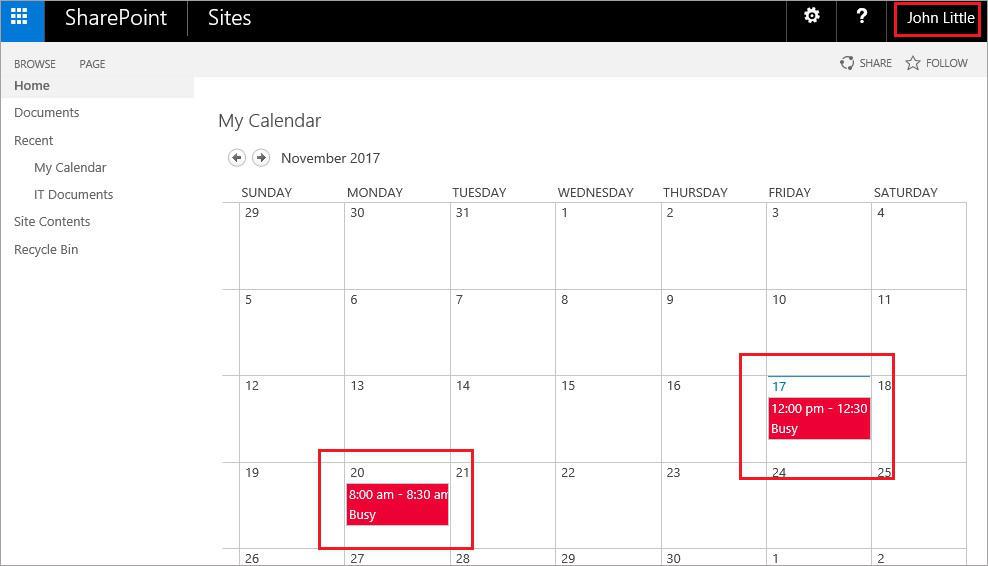 Exchange and SharePoint integration - calendar overlay