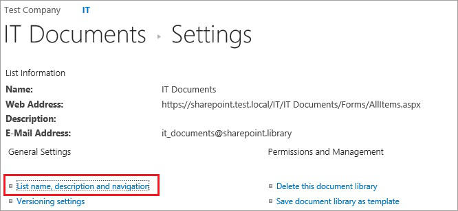 SharePoint and Exchange integration - site mailbox settings