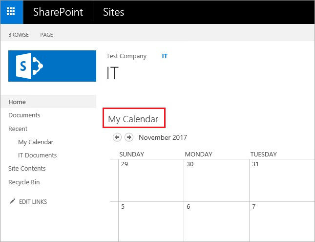 SharePoint and Exchange integration - calendar overlay 5