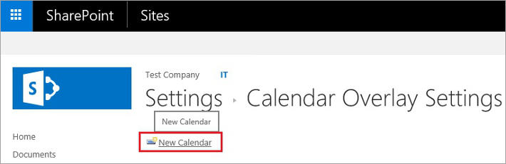 SharePoint and Exchange integration - calendar overlay 7