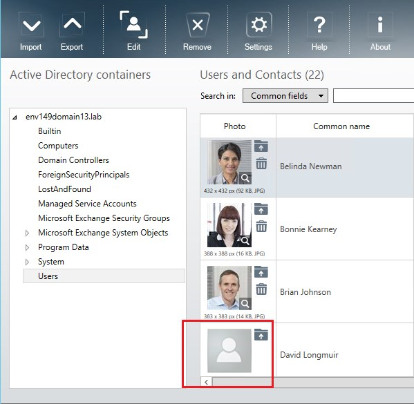How to use Active Directory user photos in Windows 10 - Viewing users in CodeTwo Active Directory Photos