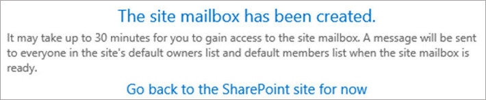 SharePoint and Exchange integration - create site mailbox provisioning