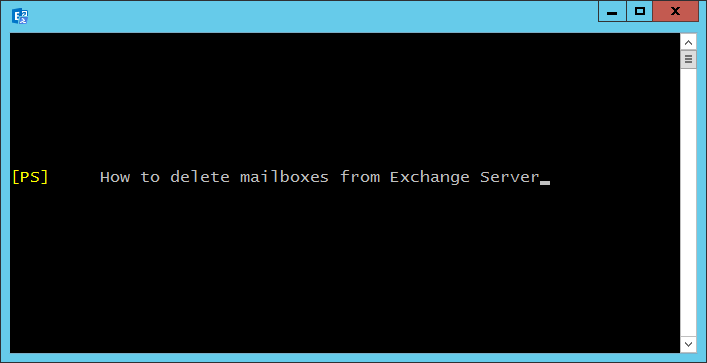 How to delete mailboxes from Exchange Server