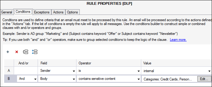 Make Exchange GDPR compliant with DLP Policies 1