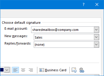How to set up different email signatures for shared mailbox and user mailbox in Office 365