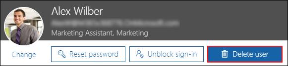 Delete Office 365 user