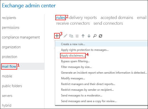 set up organization-wide email signatures in Exchange 2019