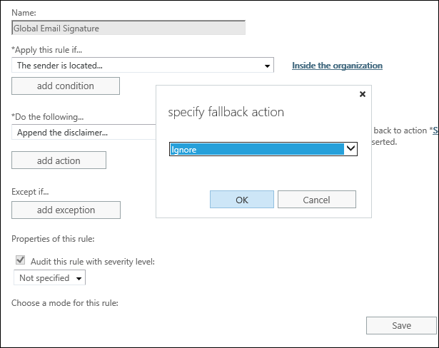 Add email signatures on Exchange 2019