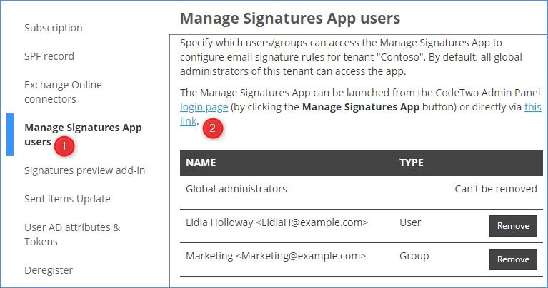 Manage Office 365 Signatures