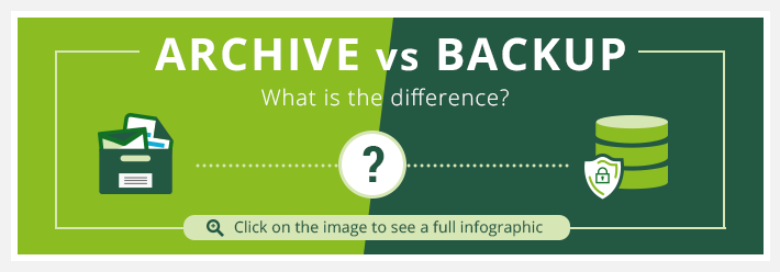 Archive vs backup - see the difference