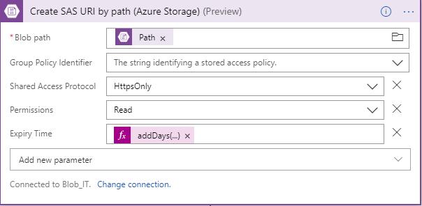 Create SAS URI by path Azure Storage