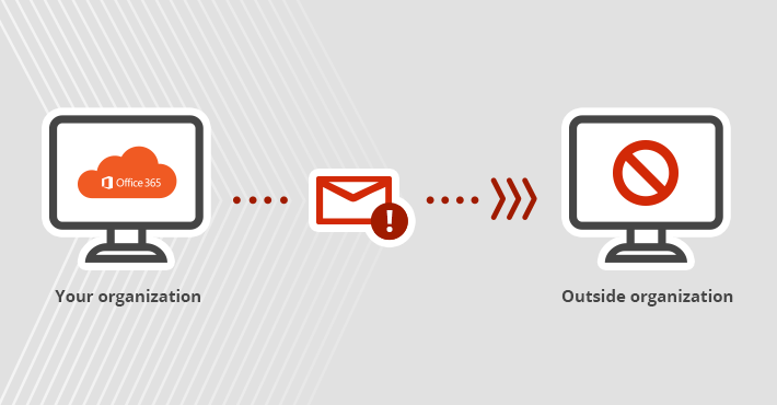 Block users from sending emails outside your Office 365 organization.