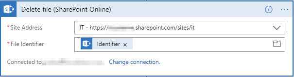 Delete file SharePoint Online