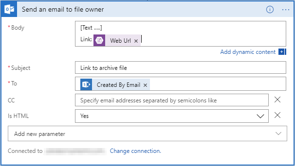Send an email to file owner