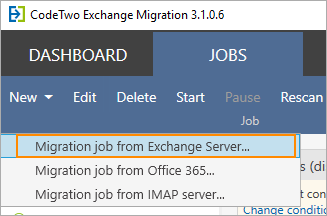 Exchange migration 2010-2016 with CodeTwo migration tool.