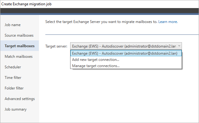 Connect to your target Exchange 2016 server.