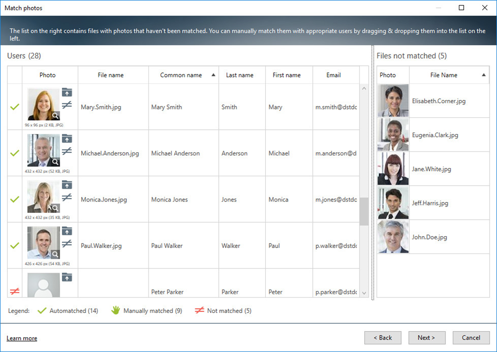 Match Office 365 users with their photos