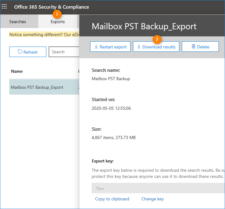 How to export Office 365 mailboxes with PS