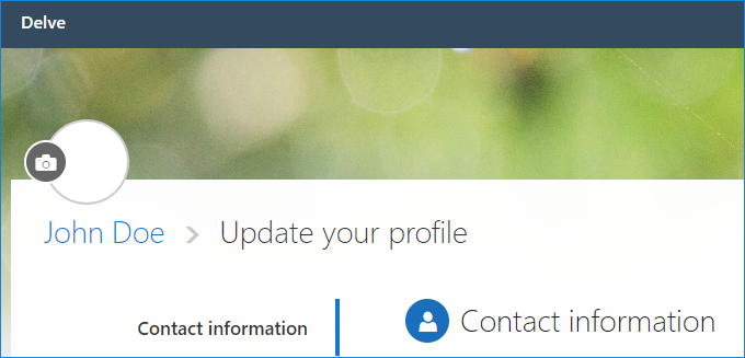 Changing profile photo in Delve
