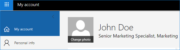 Changing photo in Microsoft 365 profile