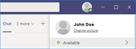Changing photo in Microsoft Teams