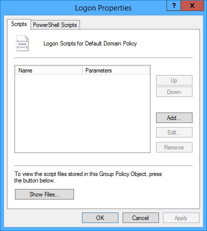 Add logon script