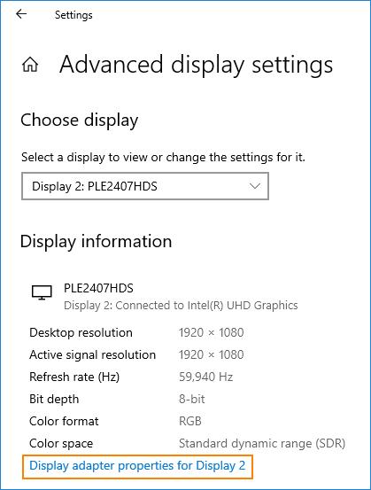 SCVMM console doesn't start - display adapter properties