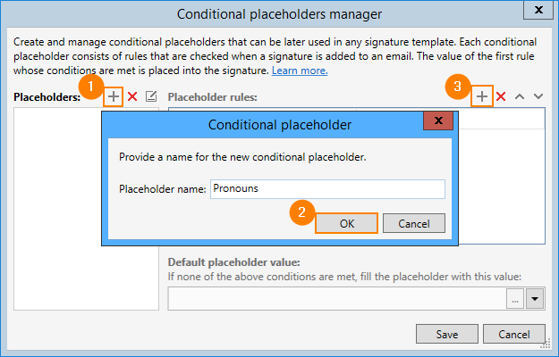 03 - Exchange Rules Pro, add a gender pronoun placeholder