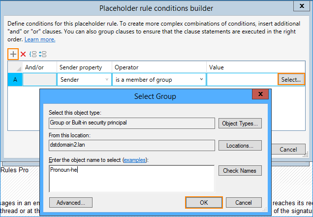 04 - Exchange Rules Pro, define dynamic placeholder condition