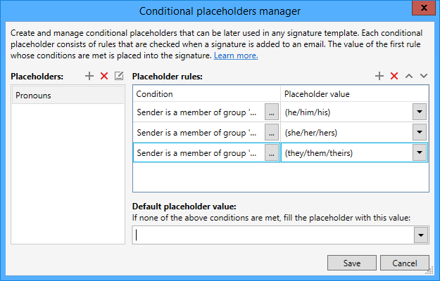05 - Exchange Rules Pro, add placeholder values