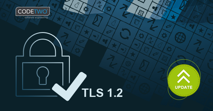 CodeTwo products with TLS 1.2 support released
