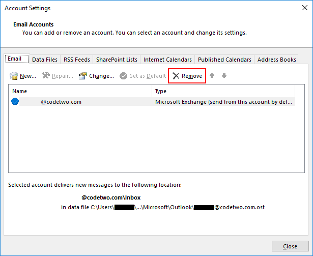 How to create a new email address in outlook 2020 data file