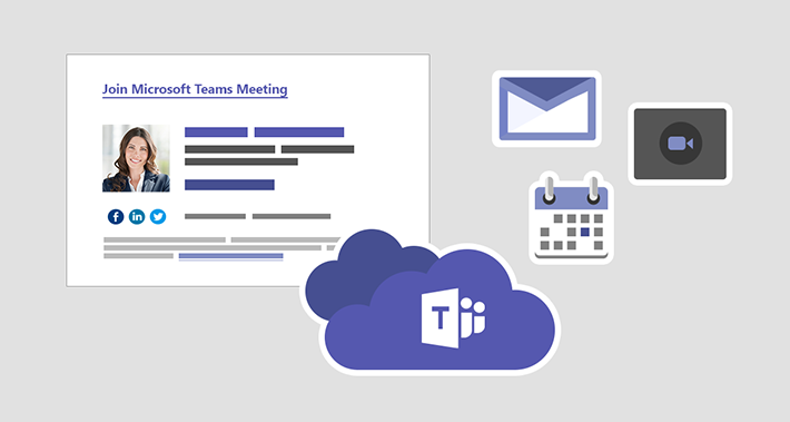 Add a signature to a Teams meeting request