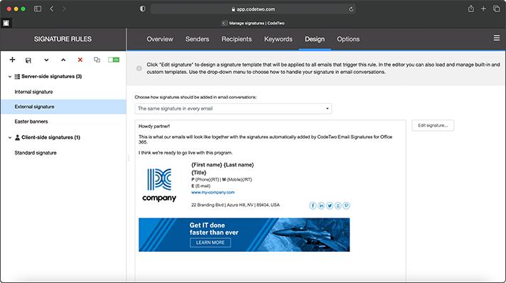 New all-web signature management