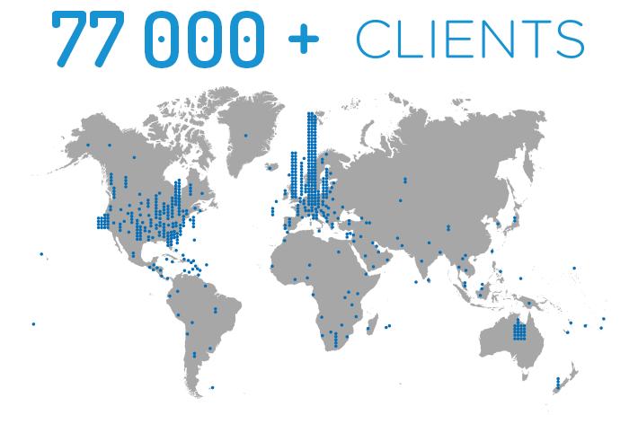 Clients Map Image 77k+ clients