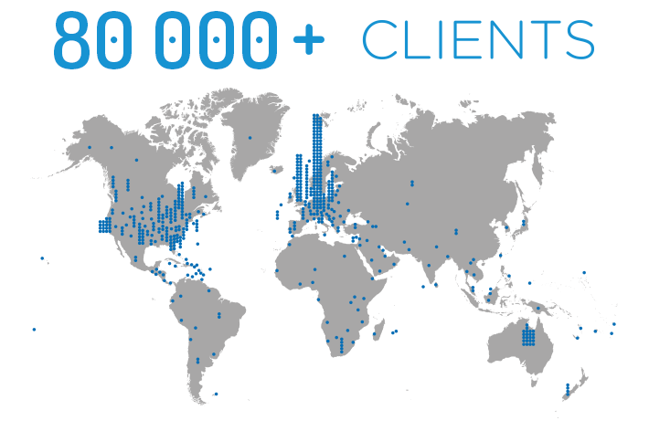 Clients Map Image 80k+ clients