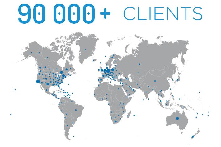 Clients Map Image 90k+ clients