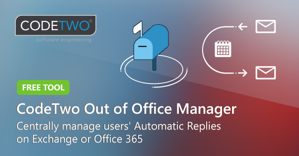 Free Out of Office Manager by CodeTwo