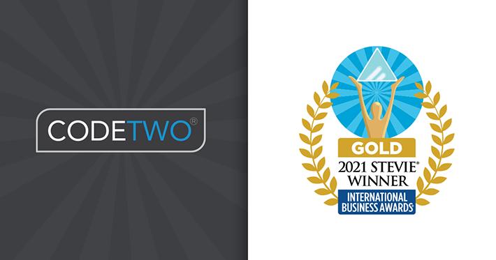 CodeTwo 2021 Stevie Winner blog