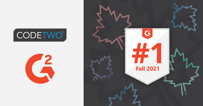 CodeTwo products awarded on G2.Com - Fall 2021