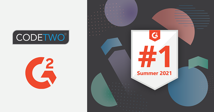 G2 Summer 2021 awards for CodeTwo software