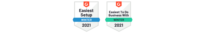 G2 Winter report badges for CodeTwo Office 365 Migration