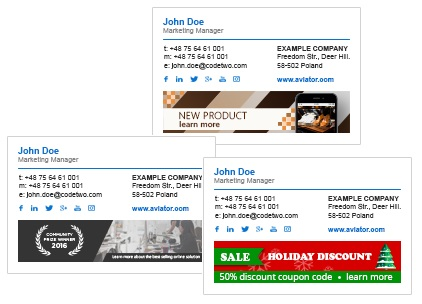 Email Signatures with different marketing banners