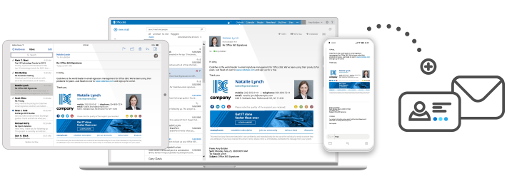Professional email signatures for business - all devices