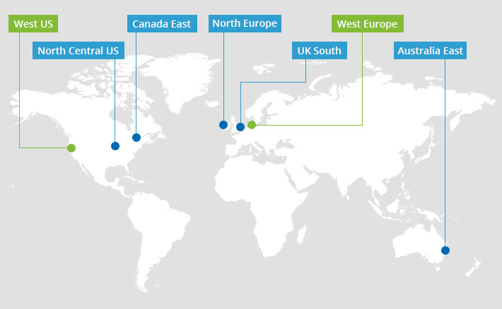 ESIG new geolocations West Europe & West US
