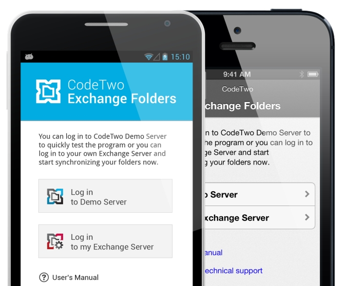 Get Exchange Public Folders to Android and iPhone with CodeTwo Exchange Folders