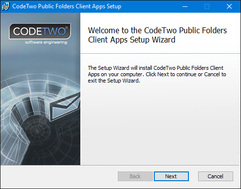 Follow the next-next-finish installation wizard to install the Client Apps.