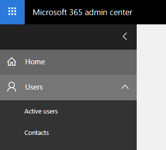 Microsoft 365 admin center users