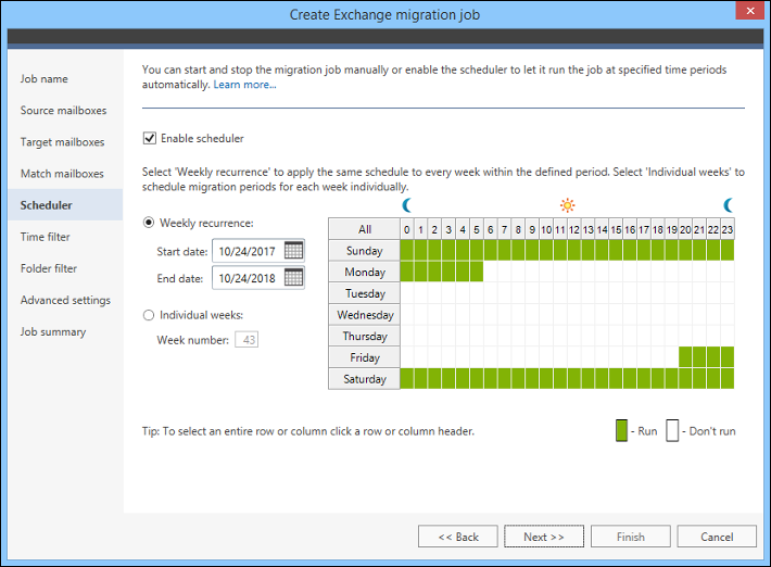 Migrate legacy Exchange - Scheduler a