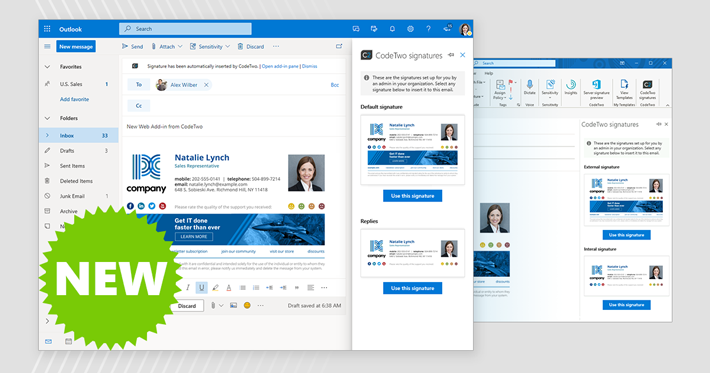 World's first email signature Web Add-in for Outlook on the web and Outlook desktop is powered by CodeTwo